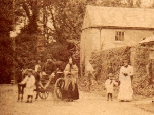 crop family group brighter Terrace & west elev c1883