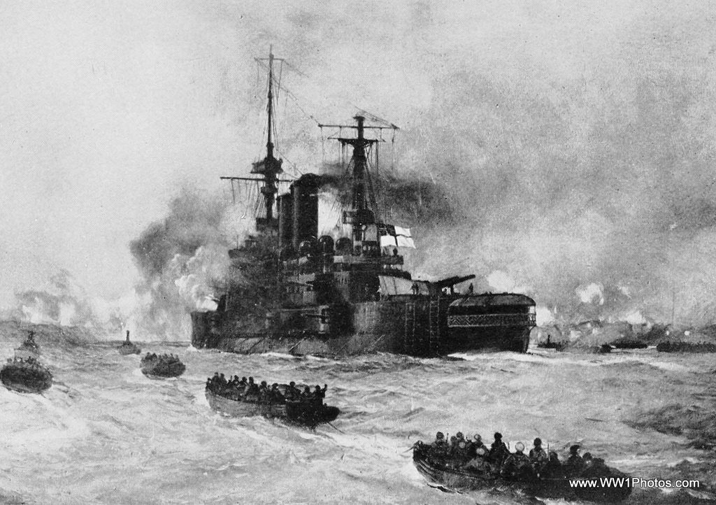 HMS Implacable approaching X-Beach _ww1Photos.com_12275590086_79b7c0ba1e_b